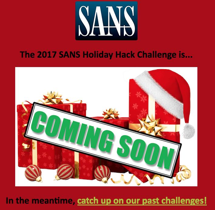 SANS 2017 Holiday Hack Writeup